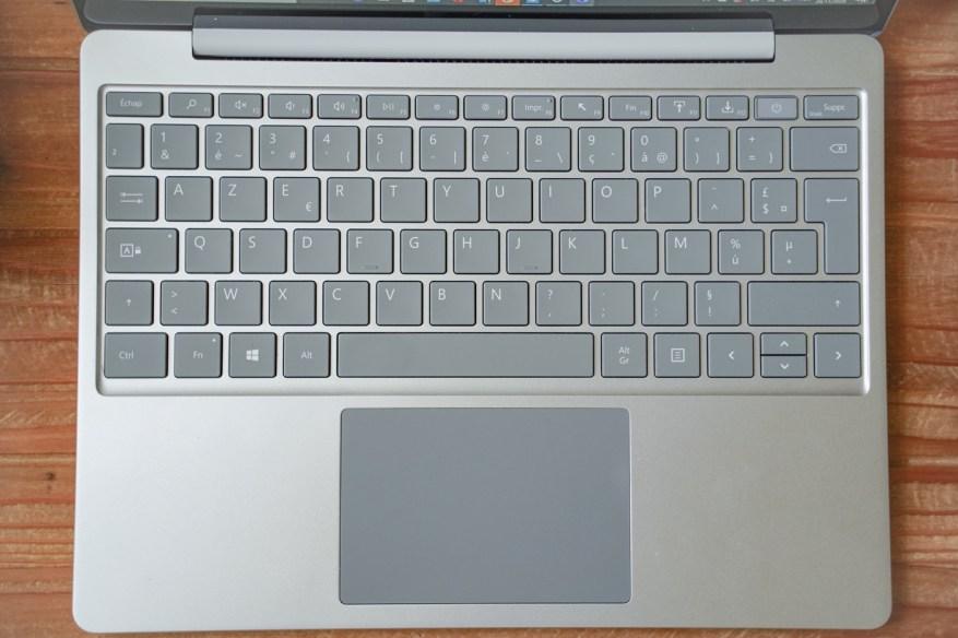test microsoft surface laptop go clavier