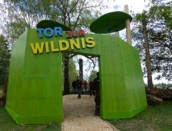 """Wartet auf die ersten Besucher: das """"Tor zur Wildnis"""", mit dem der Nationalpark Bayerischer Wald die Besucher zu einer Erkundungstour in die wilde Waldnatur einlädt"""