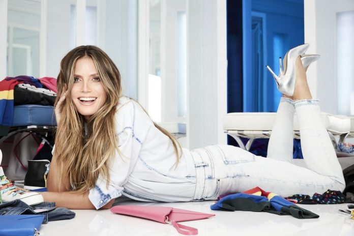Celebrities, Handel, People, Verbraucher, Bild, Lifestyle, Mode, Fashion / Beauty, #LETSDENIM, #esmarabyheidiklum Lidl-Kollektion, Heidi Klum, #LETSWOW, Neckarsulm,