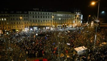 Prag,News,Politik,Protest ,Präsident, Milos Zeman ,Andrej Babis,