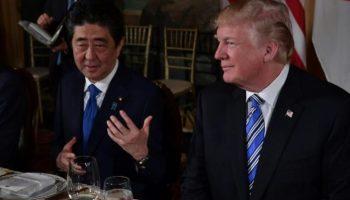 Handelsvereinbarungen,USA,Japan,Präsident ,Donald Trump ,Florida. Shinzo Abe,Außenpolitik,