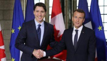 vor dem G7-Gipfel,Präsident ,Emmanuel Macron,Justin Trudeau,G7-Gipfel,Nachrichten,Politik,Ausland,Außenpolitk