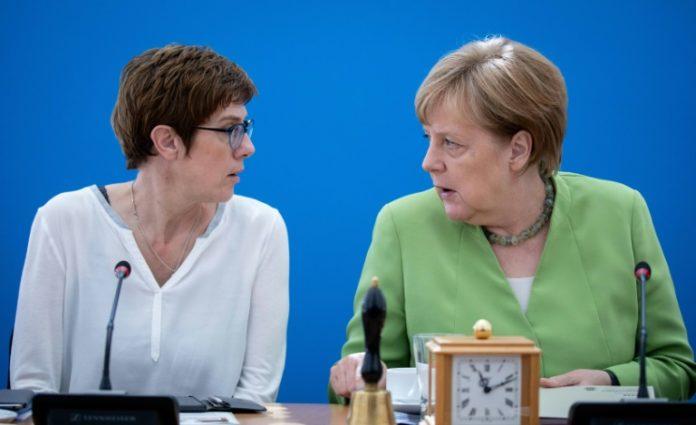 Bundeskanzlerin, Angela Merkel , Annegret Kramp-Karrenbauer ,Politik,CDU,CSU,Debatten in der Union,Berlin