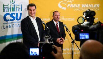 Landtagswahl,Koalitionsvertrag,CSU,Bayern,Politik,Nachrichten,News,Freie Wähler ,München