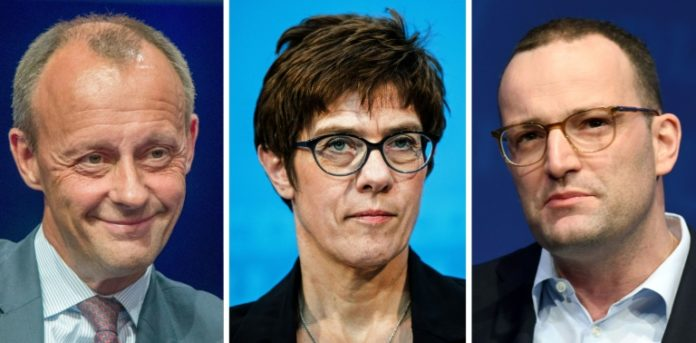Politik,Nachrichten,Presse,Daniel Günther , Annegret Kramp-Karrenbauer, Jens Spahn,Angela Merkel ,Berlin,CDU