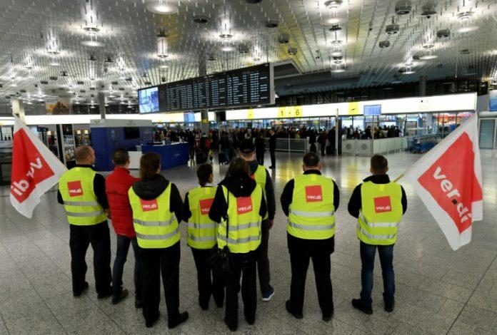 Verdi,Flughafen,LuftverkehrStreiks,,News,Presse,Aktuelles,Warnstreiks ,Hamburg,München,Hannover, Bremen, Leipzig, Dresden ,Erfurt