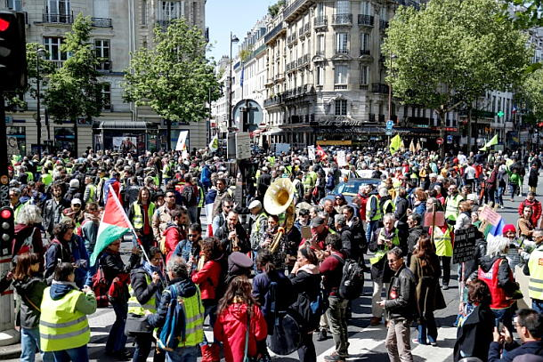 Paris,Rot-gelbe Demonstration,Politik