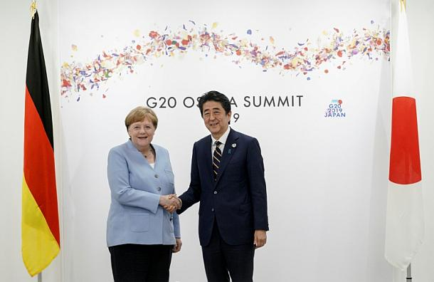 G20-Gipfel ,Osaka,Shinzo Abe,Angela Merkel