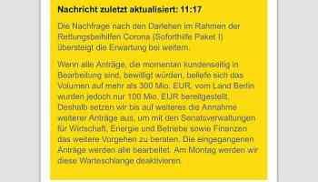 Coronavirus,Zuschüsse,Berlin,Geld,Presse,News,Medien