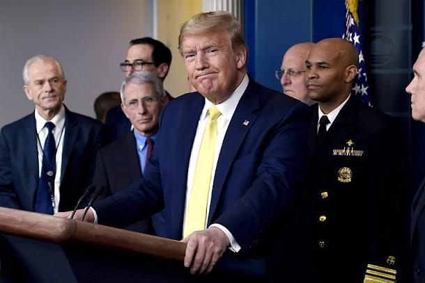 Donald Trump,USA,Corona-Krise,Presse,News,Medien