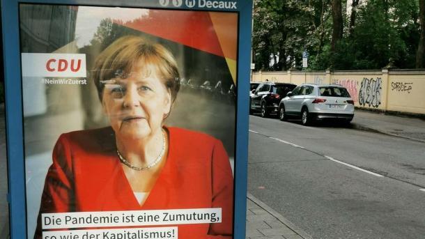 Merkel-Plakat,Presse,News,Medien,Aktuelle,Nachrichten