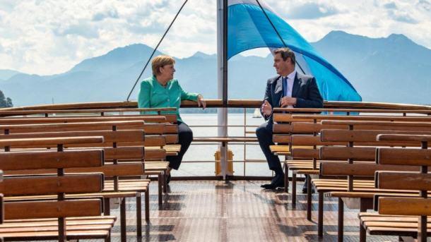 Kanzlerin,Bayern,Chiemsee-Schloss,Angela Merkel,Markus Söder,Politik