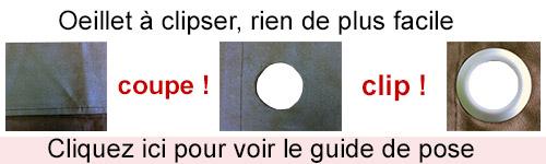 nos oeillets a clipser 100 fabrication francaise ne necessitent aucun outil pour les poser apres preparation du tissu decoupe ourlet