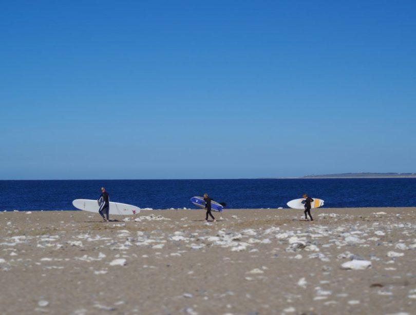 Klitmøller Dänemark Strand mit Surfern