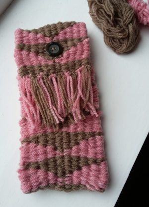 Stick woven pouch