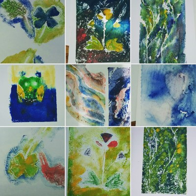 painterly printmaking by my students