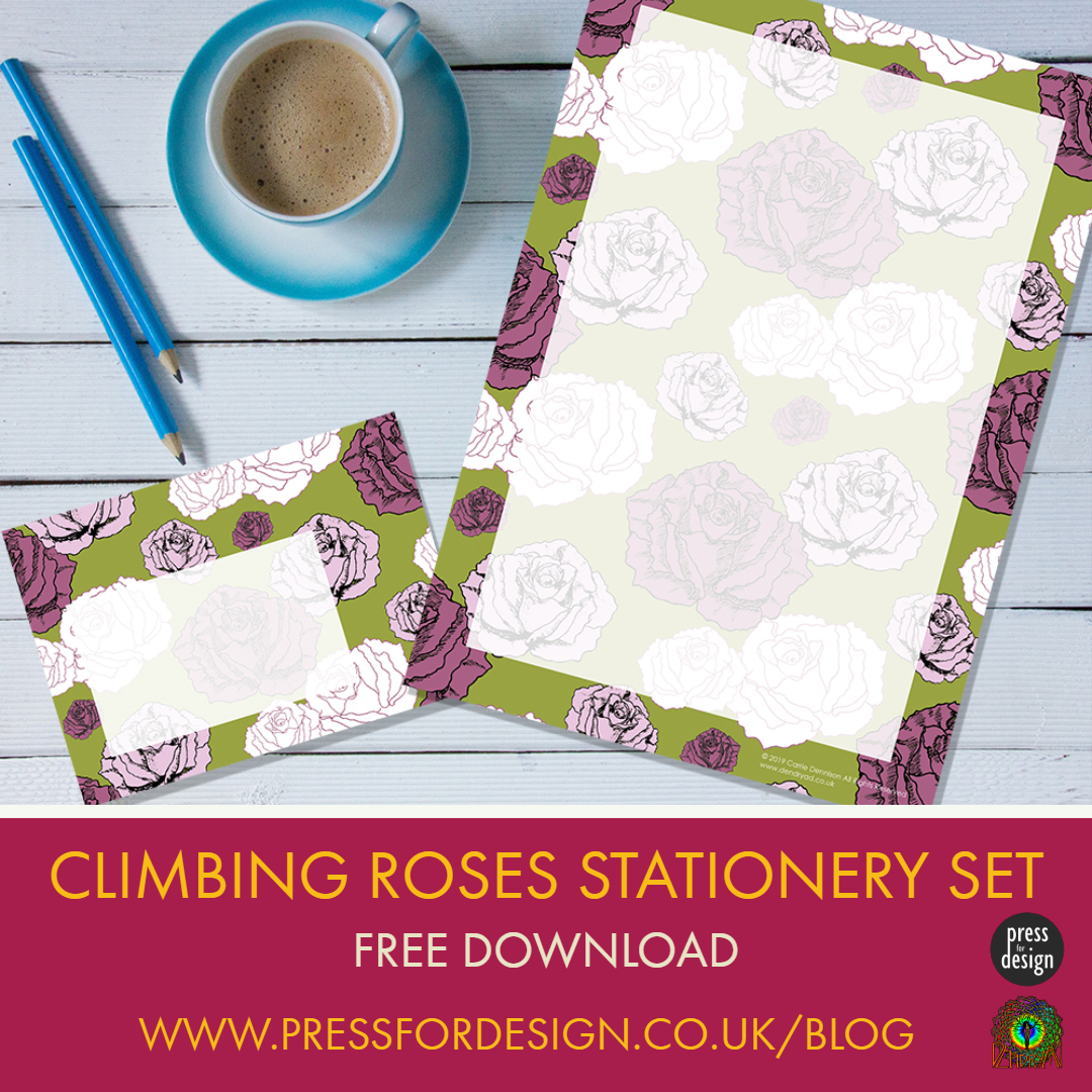 Get Creative: Climbing Roses Stationery Set
