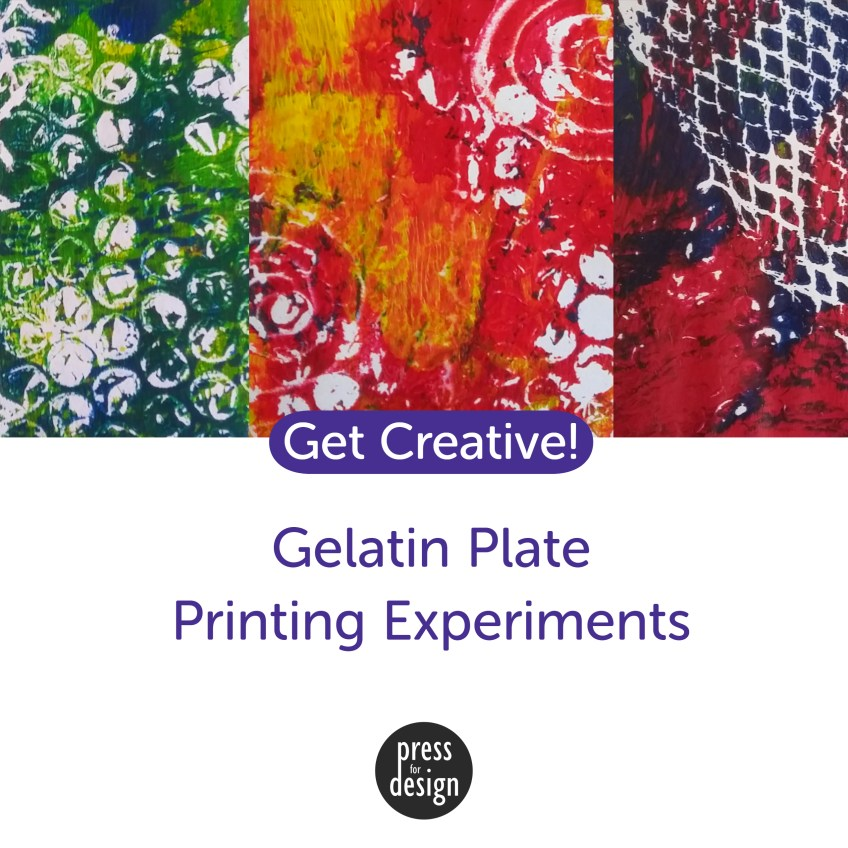 Experiments with gelatin plate printing