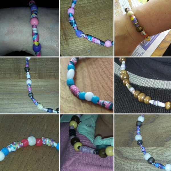 paper bead jewellery - Stanley group
