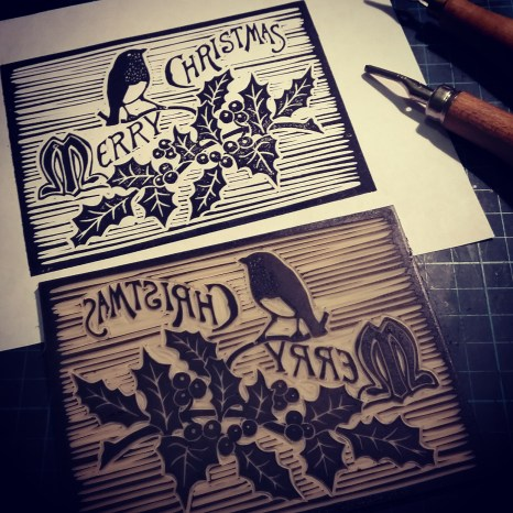 Proofing the lino print