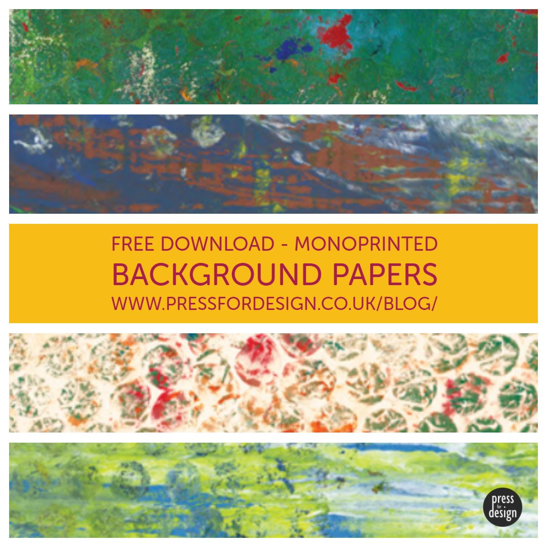 Crafty download: monoprinted background papers