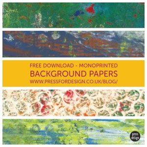 Monoprinted background papers - free download