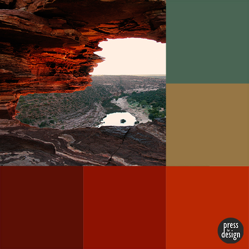 View Through Nature's Window to Murchison River colour inspiration swatch