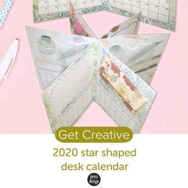Get Creative: Star shaped desk calendar project with free 2020 calendar printable