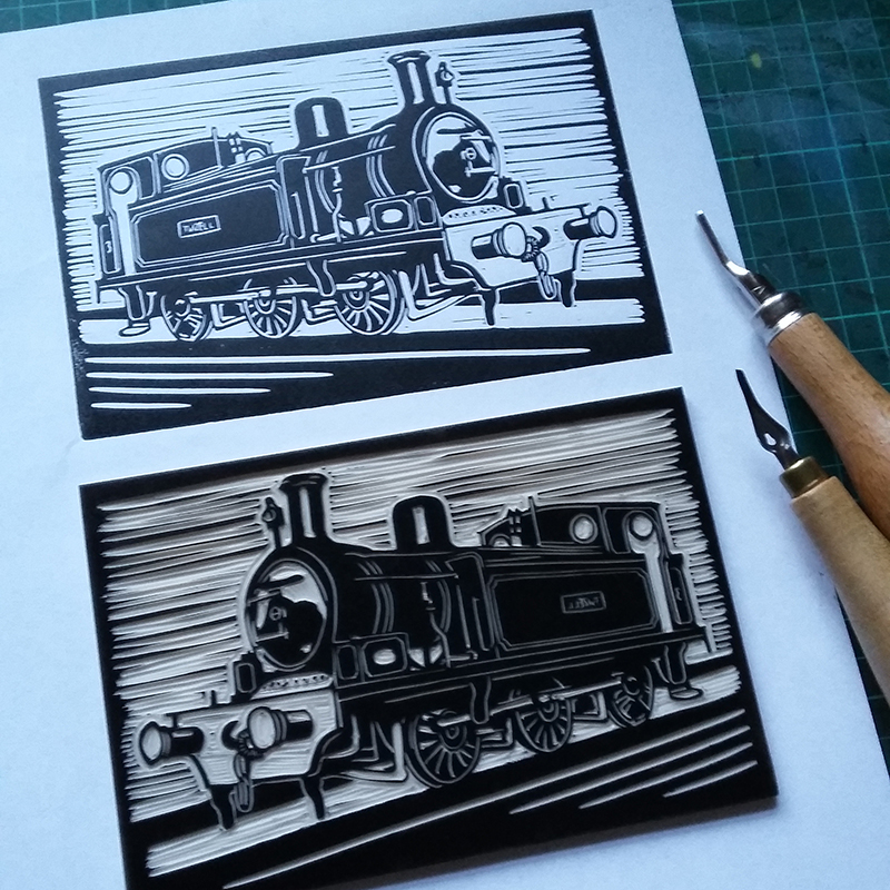 New lino prints for you to print up at Tanfield Railway