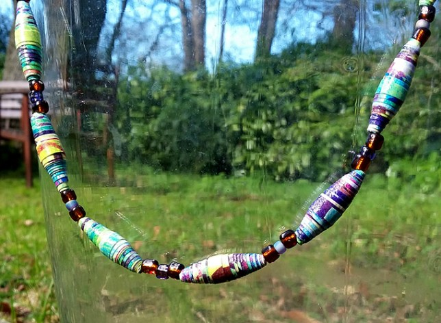 hand made beads and necklace