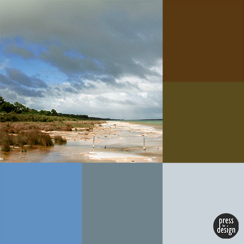 Yalgorup Lake colour inspiration swatch