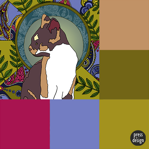 Tuesday Colour Inspiration – Art Nouveau Cats