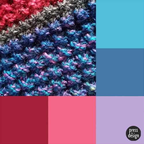 Tuesday Colour Inspiration: Knitted Scarf