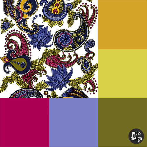 Paisley of 71 colour inspiration swatch
