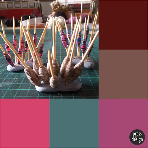 Paper beads colour inspiration swatch
