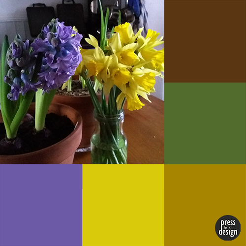 Spring Flowers colour inspiration swatch