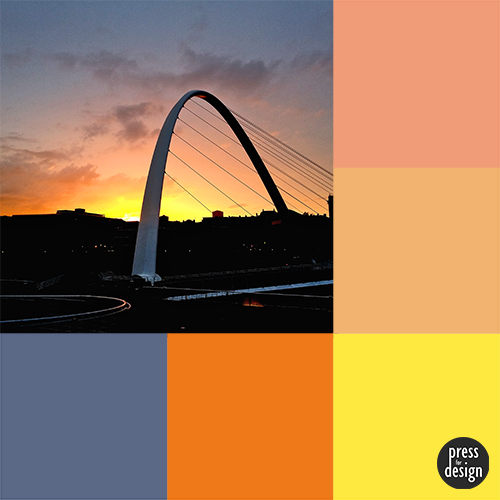 Tuesday Colour Inspiration – Sunset Over the Tyne