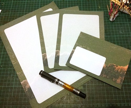 Treescape letter writing set