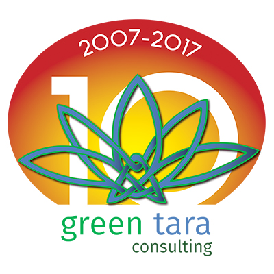 10th Anniversary Logo design for Green Tara Consulting