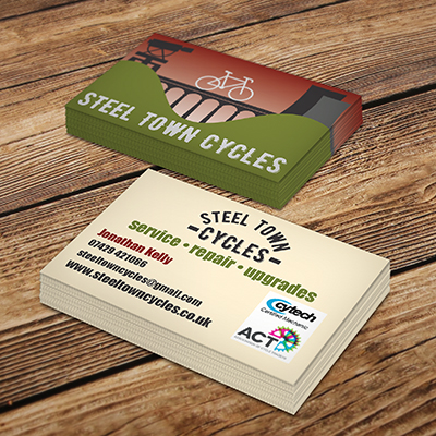 Steel Town Cycles business card design
