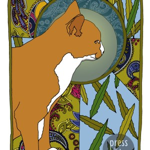 Willow – Art Nouveau Cat illustration