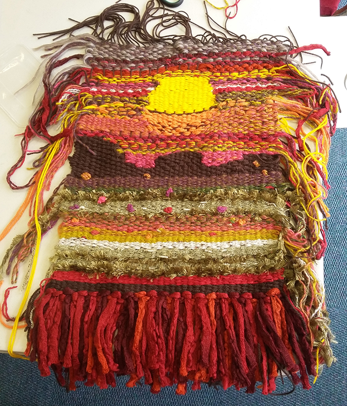 Tapestry weaving made by student