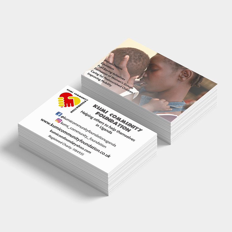 Kumi Community Foundation business card design