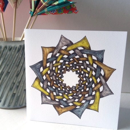 Celtic Floral greetings card