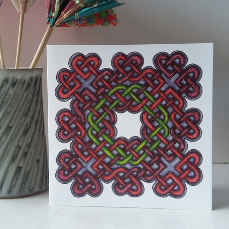 Celtic Hearts greetings card