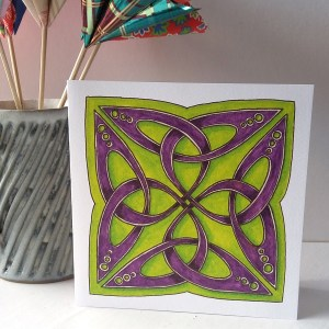 Celtic Trefoil Square greetings card