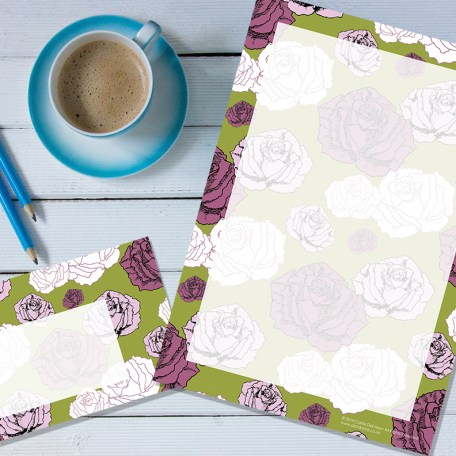 Dendryad Art - Climbing Roses stationery set