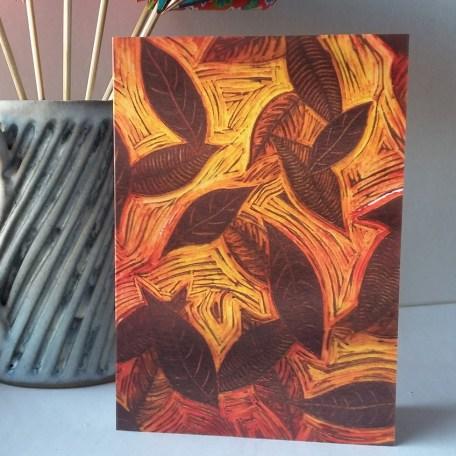 Depths of Autumn greetings card
