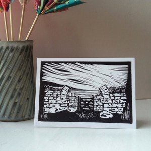 Milecastle 37 greetings card
