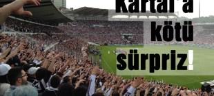 Beşiktaş'a taraftardan şok!